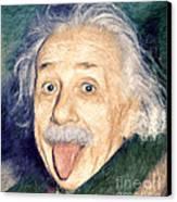 Albert Einstein Impressionist Canvas Print by Giuseppe Persichino