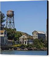 Alcatraz Dock And Water Tower Canvas Print by John McGraw