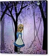Alice In An Enchanted Forest Canvas Print by Charlene Murray Zatloukal