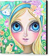 Alice In Pastel Land Canvas Print by Jaz Higgins