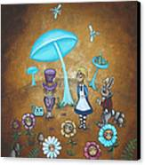 Alice In Wonderland - In Wonder Canvas Print by Charlene Murray Zatloukal