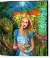 Alice  Canvas Print by Luis  Navarro