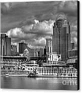 All American City Bw Canvas Print by Mel Steinhauer