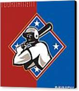 All Star Baseball Tournament Retro Poster Canvas Print by Aloysius Patrimonio