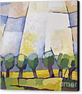 Allee Mit Rapsfeld Canvas Print by Lutz Baar