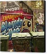 Alley Graffiti Canvas Print by Stuart Litoff