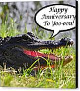 Alligator Anniversary Card Canvas Print by Al Powell Photography USA