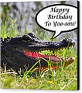 Alligator Birthday Card Canvas Print by Al Powell Photography USA
