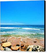 Along The Rincon California Surf Spot From The Book My Ocean Canvas Print by Artist and Photographer Laura Wrede