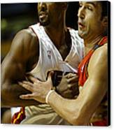 Alonzo Mourning Canvas Print by Don Olea