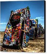Amarillo - Cadillac Ranch 004 Canvas Print by Lance Vaughn