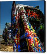 Amarillo -  Cadillac Ranch 006 Canvas Print by Lance Vaughn