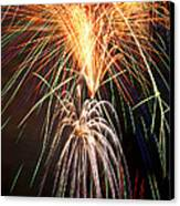 Amazing Fireworks Canvas Print by Garry Gay