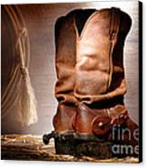 American Cowboy Boots Canvas Print by Olivier Le Queinec