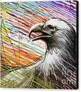 American Eagle Canvas Print by Bedros Awak