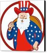 American Father Christmas Santa Claus Canvas Print by Aloysius Patrimonio