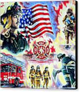 American Firefighters Canvas Print by Andrew Read