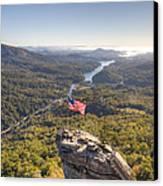 American Flag At Chimney Rock State Park North Carolina Canvas Print by Dustin K Ryan