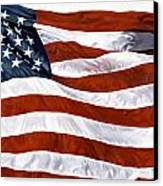 American Flag Canvas Print by John Zaccheo