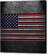 American Flag Stone Texture Canvas Print by Brian Carson