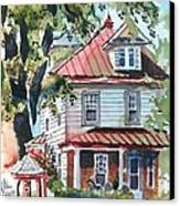 American Home With Children's Gazebo Canvas Print by Kip DeVore