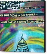 American Rainbow Canvas Print by Tony B Conscious