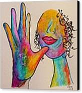 American Sign Language . . .  Mother Canvas Print by Eloise Schneider