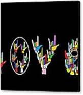 American Sign Language I Love U   Canvas Print by Eloise Schneider