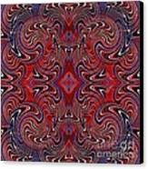 Americana Swirl Design 1 Canvas Print by Sarah Loft