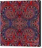Americana Swirl Design 2 Canvas Print by Sarah Loft