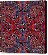 Americana Swirl Design 3 Canvas Print by Sarah Loft