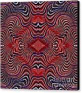Americana Swirl Design 7 Canvas Print by Sarah Loft