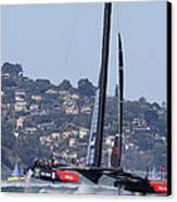 America's Cup Oracle 2013 Canvas Print by Steven Lapkin
