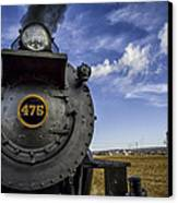 Amish Farmland And Brilliant Blue Sky Frame #475 Steam Engine - Strasburg Rr   02 Canvas Print by Mark Serfass