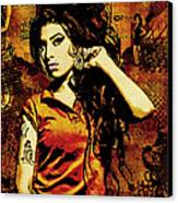 Amy Winehouse 24x36 Mm Reg Canvas Print by Dancin Artworks
