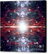 An Artists Depiction Of The Big Bang Canvas Print by Marc Ward