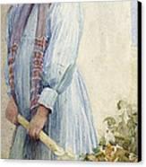 An Italian Peasant Girl Canvas Print by Ada M Shrimpton
