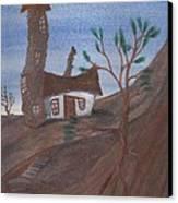 An Odd Folly Canvas Print by Robert Meszaros