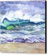 An Ode To The Sea Canvas Print by Carol Wisniewski