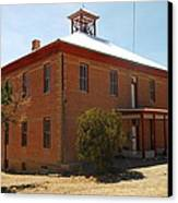 An Old School In White Oaks New Mexico Canvas Print by Jeff Swan