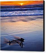 Anchor Ocean Beach Canvas Print by Garry Gay