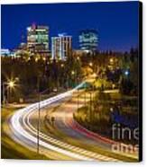 Anchorage Skyline Canvas Print by Inge Johnsson