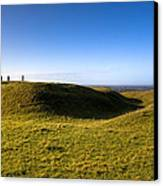 Ancient Hill Of Tara In The Winter Sun Canvas Print by Mark Tisdale