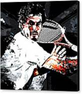Andy Murray Canvas Print by The DigArtisT