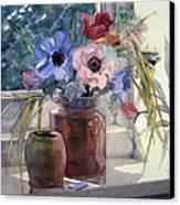 Anemones Canvas Print by Julia Rowntree
