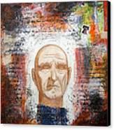 Angel And Man 2 Canvas Print by Chris Bradley