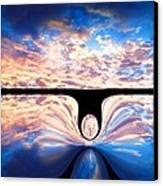 Angel In The Sky Canvas Print by Alec Drake