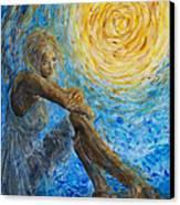 Angel Moon II Canvas Print by Nik Helbig