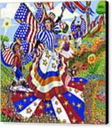 Angel Of American Patriotism Canvas Print by Jacquelin Vanderwood