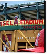 Angel Stadium Canvas Print by Ricky Barnard